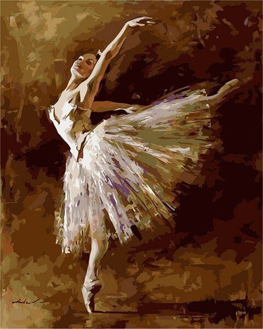 Ballerina Dancer Tilting  - People Paint By Numbers