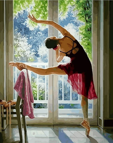 Ballerinas On Balcony- People Paint By Numbers