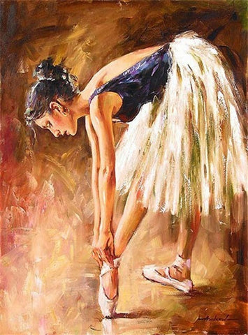 Ballerina is Preparing - People Paint By Numbers
