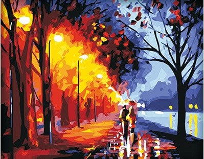 Colorful Romantic Lovers Street - Romance and Love Paint By Numbers