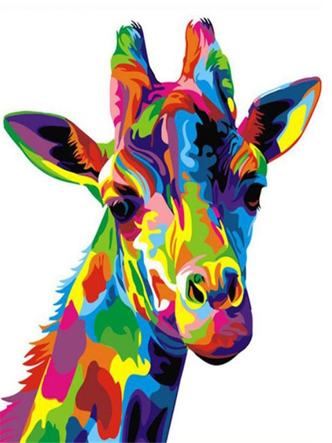Colorful Giraffe Animals Paint By Numbers Numeral Paint