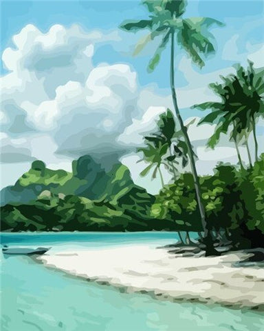 Bora Bora Island - Landscape Paint By Numbers