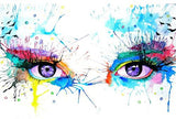 Abstract Eyes- People Paint By Numbers