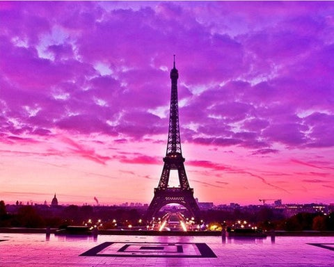 Girly Pink Paris - Cities Paint By Numbers