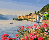 Lake Como- Landscape Paint By Numbers