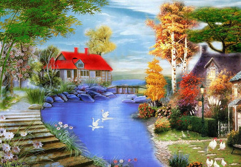 Beautiful Natural Scenery- Landscape Paint By Numbers