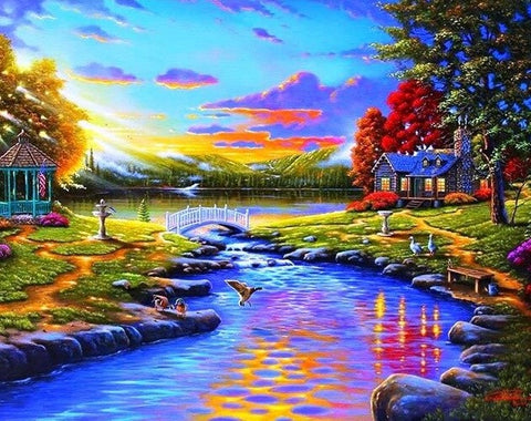 Beautiful Sunset - Landscape Paint By Numbers