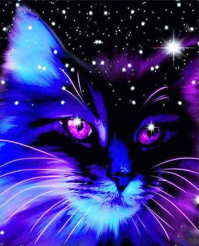 Space Cat  - Animals Paint By Numbers