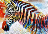 Glowing Zebra - Animals Paint By Numbers