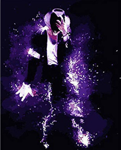 Michael Jackson Dancing - People Paint By Numbers