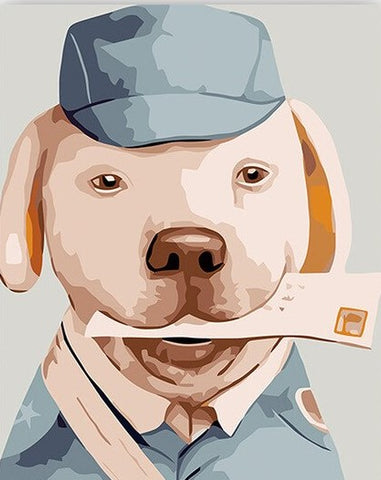 Dog Postman - Animals Paint By Numbers