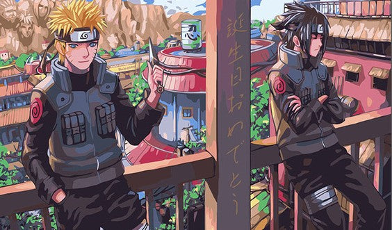 Naruto And Sasuke Jounin Cartoon And Animation Paint By Numbers