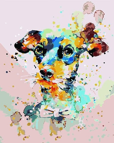 Cute Colorful Dog - Animals Paint By Numbers