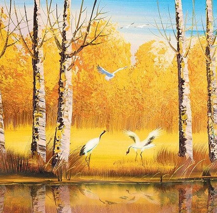 Birch Autumn Forest  - Landscape Paint By Numbers