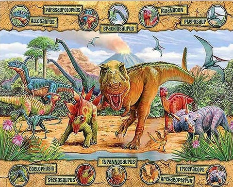 Dinosaur World- Animals Paint By Numbers