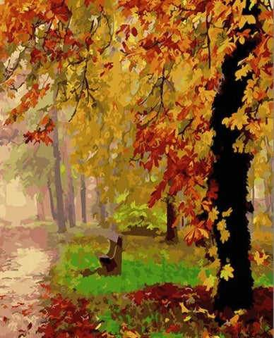 Autumn Tree - Landscape Paint By Numbers