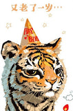 Cute Tiger Birthday - Animals Paint By Numbers