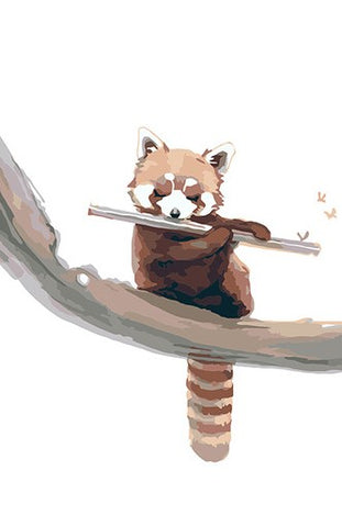 Cute Red Panda  - Animals Paint By Numbers