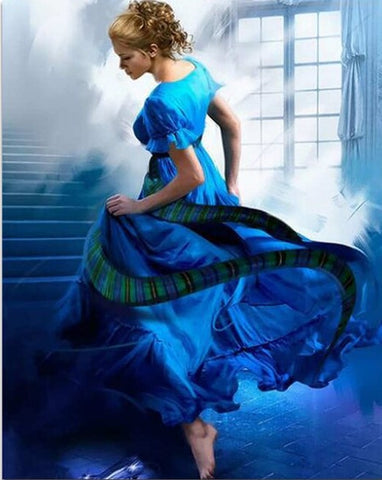 Cinderella in Blue Dress - People Paint By Numbers