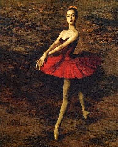 Ballerina in a Red Dress - People Paint By Numbers