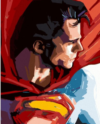 Superman - People Paint By Numbers