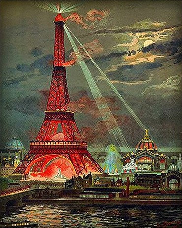 The Red Eiffel Tower Paris - Cities Paint By Numbers