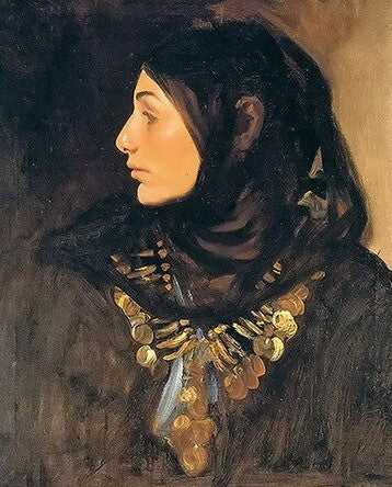 Woman with Veil  - People Paint By Numbers