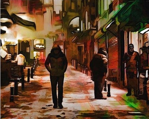Alone in Budapest Streets- Cities Paint By Numbers