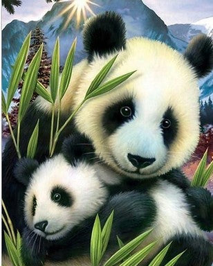 Bamboo Panda - Animals Paint By Numbers