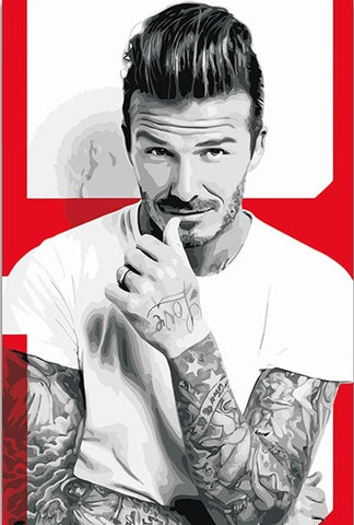 David Beckham Fashion - People Paint By Numbers