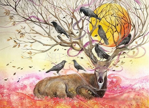 Deer Crow - Animals Paint By Numbers
