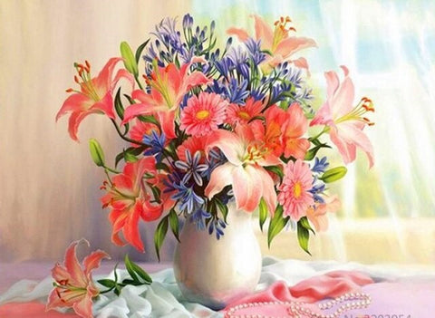 Bloom Flowers Bouquet-  Flowers Paint By Numbers