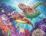 Turtle Family Undersea - Animals Paint By Numbers