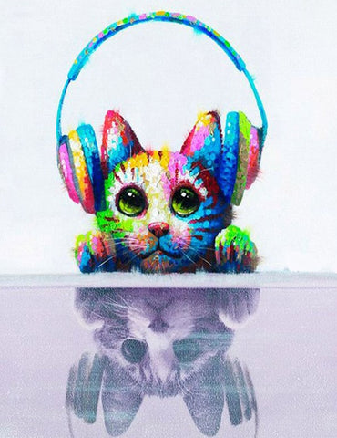 Cute Abstract Cat- Animals Paint By Numbers