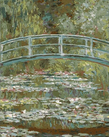 Bridge over a Pond of Water Lilies Claude Monet- Landscape Paint By Numbers