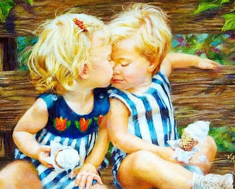 Blond Children - People Paint By Numbers