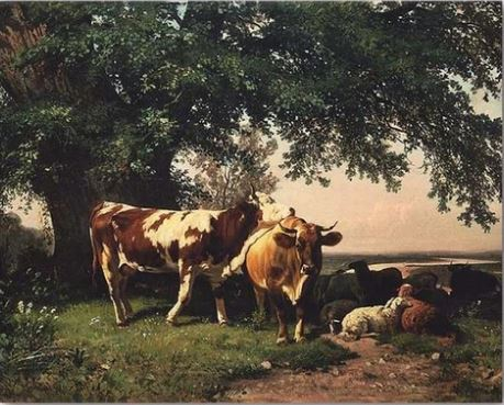Cows Under The Trees- Animals Paint By Numbers