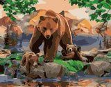 Bear Family- Animals Paint By Numbers