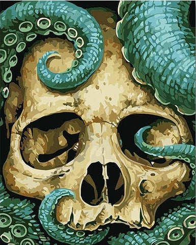 Skull Octopus - Animals Paint By Numbers