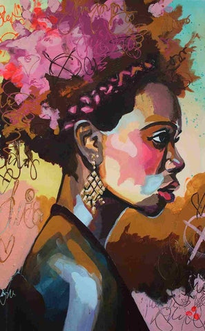 Young African Woman - People Paint By Numbers