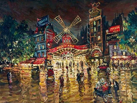 Beautiful Paris at Night - Cities Paint By Numbers