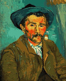 Man Smoking a Pipe - People Paint By Numbers