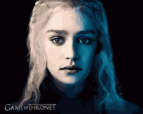 Daenerys Targaryen - DIY Paint By Numbers - Numeral Paint