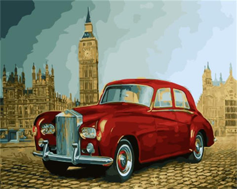 Antique Car in London - Cities Paint By Numbers