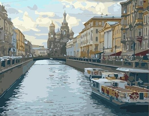 St. Petersburg River - Cities Paint By Numbers