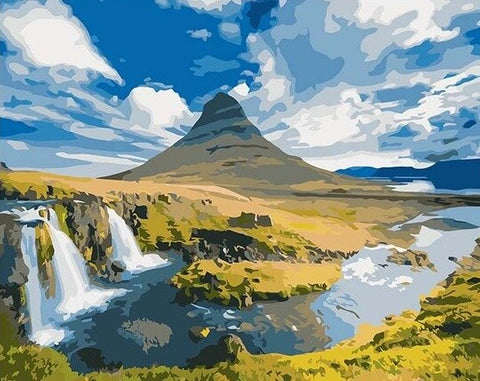 Icelandic Forests- Landscape Paint By Numbers