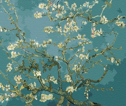 Almond Blossoms Vincent Van Gogh -  Flowers Paint By Numbers