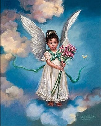Angel Above Clouds- People Paint By Numbers
