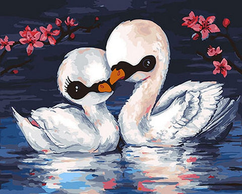 Two Baby Swan - Birds Paint By Numbers