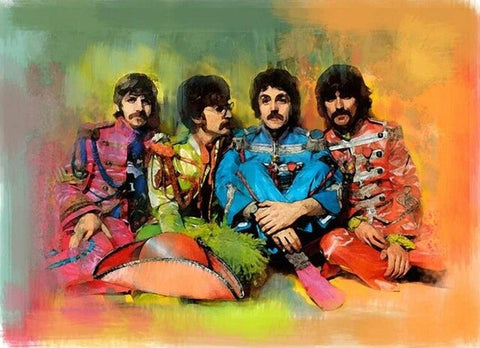 Band The Beatles - People Paint By Numbers